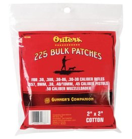 OUTERS Outers Cotton Bulk Cleaning Patches, .30-.50 CAL- 225 CT