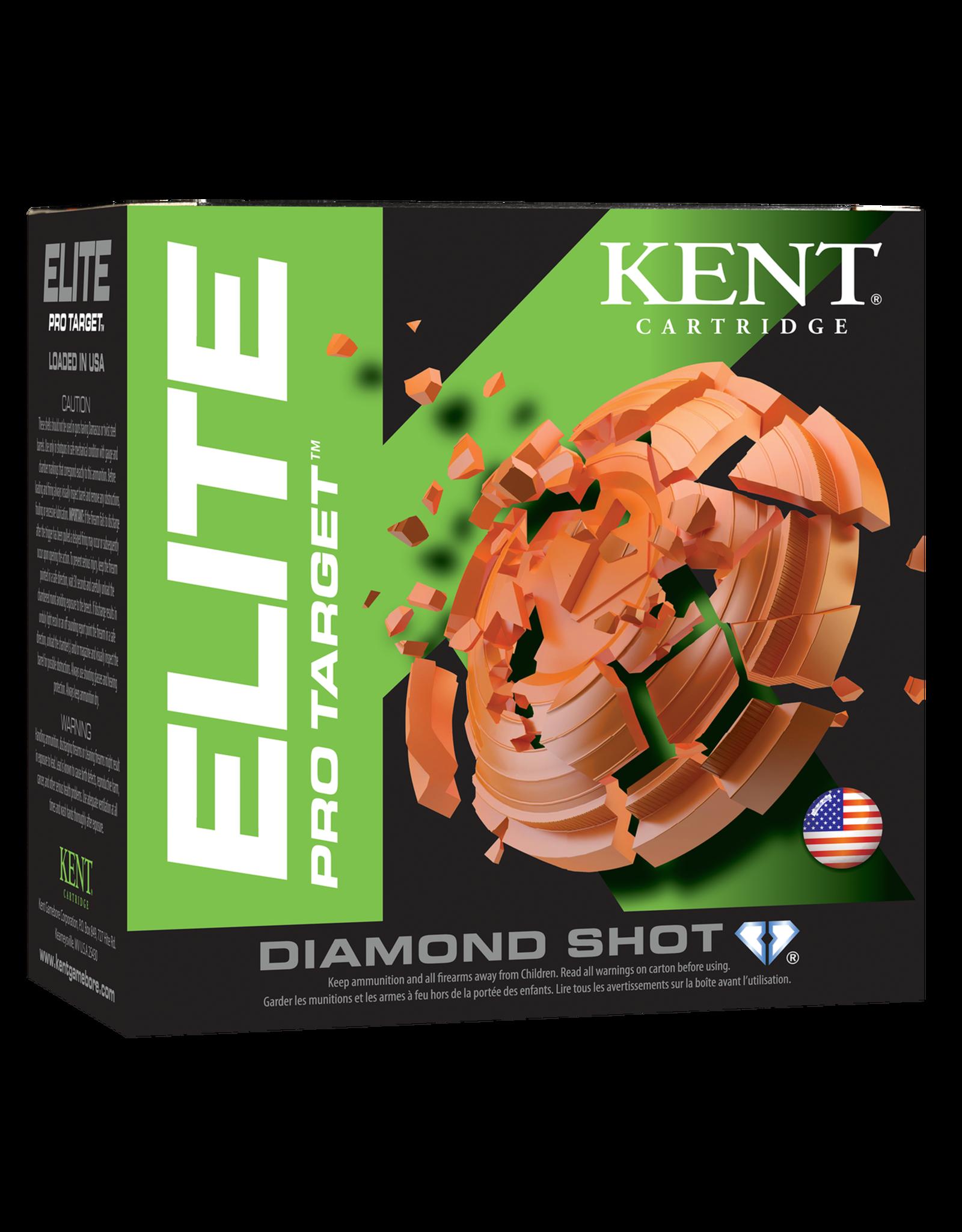 """KENT CARTRIDGE Kent Pro Target 12 ga 2-3/4"""" 1-1/8 Oz #7.5 1300 FPS - Case"""