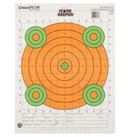 CHAMPION Champion Scorekeeper 100Yd Sight-In Rifle Target, Large Orange