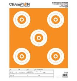 CHAMPION Champion Shotkeeper 5 Large Bullseye Target, White/Orange Bull