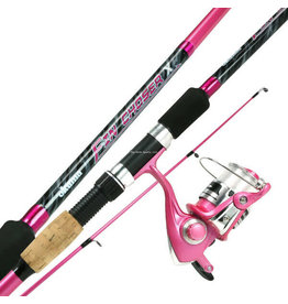 Okuma Fin Chaser X Spinning Combo, 7', MH, 2pc Pink Rod, FNX-40 1BB Pink Reel 140 yds/ 12 lb.