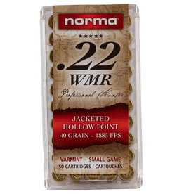 Norma .22 WMR 40 gr JHP 1885 FPS 50 Count