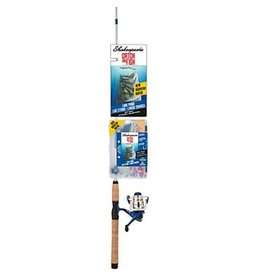 """Shakespeare Catch More Fish Lake and Pond Combo 6'2"""" Rod & Size 30 Spinning Reel w/ Line"""