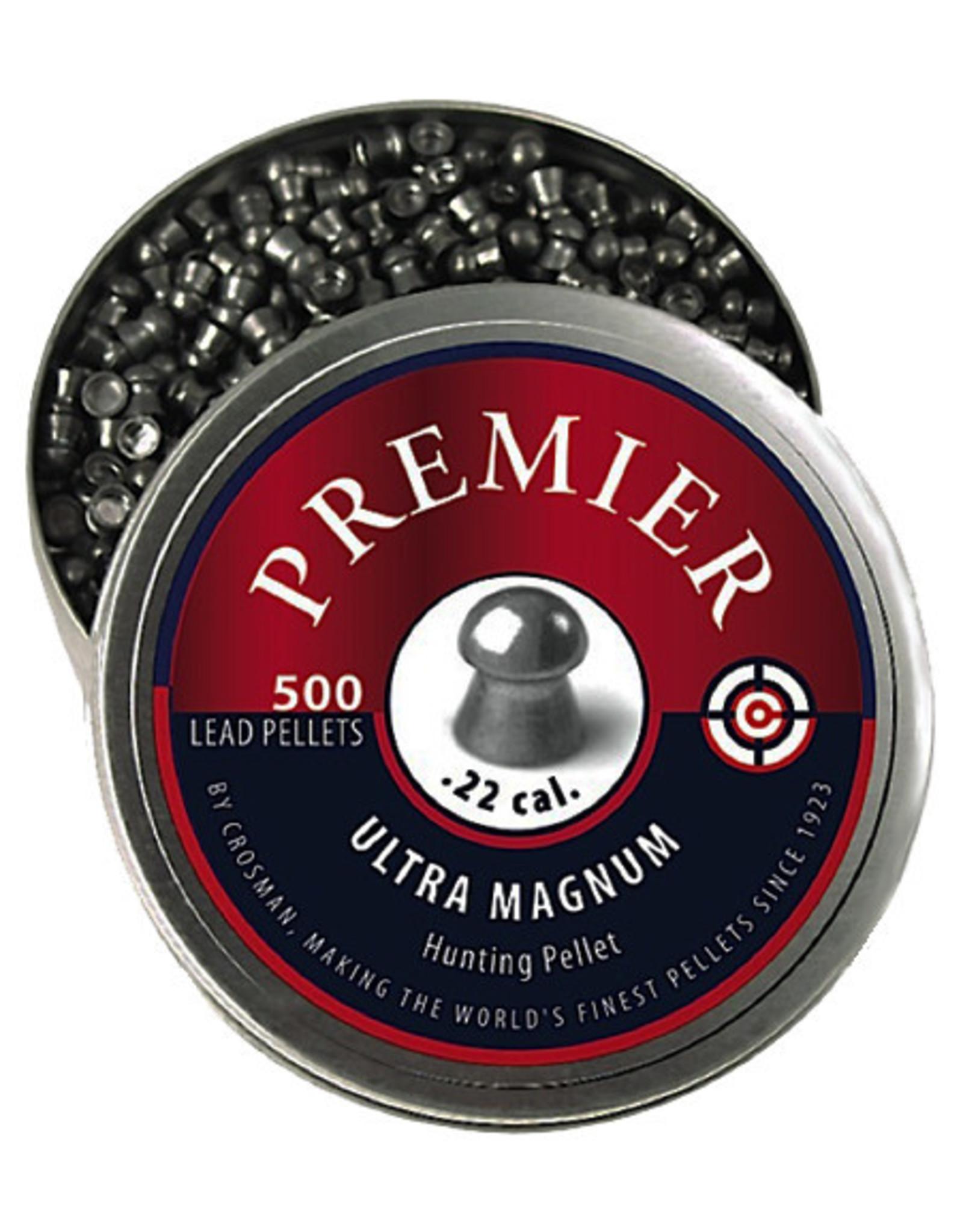 CROSMAN Crosman Premier Domed Pellet .22 Caliber, 14.3 Grain, 500 Count