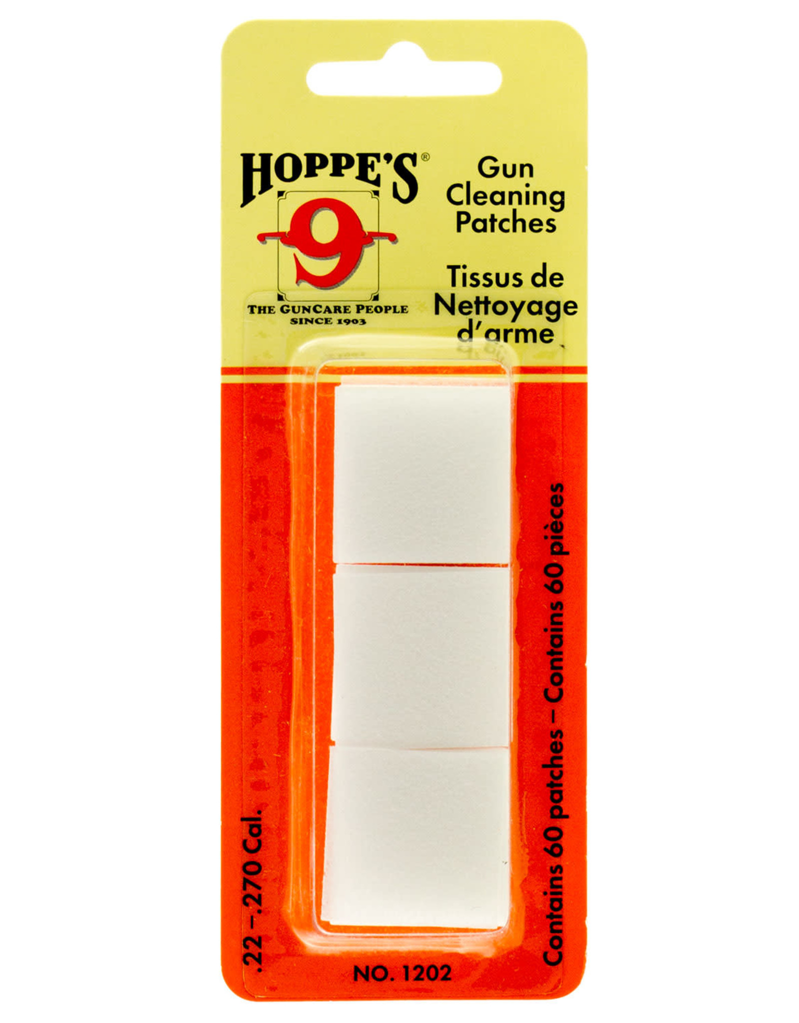 Hoppe's .38-45 Cal , .410-20 ga Cleaning Patches