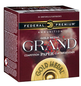 "Federal Federal Gold Medal Grand PAPER 12 ga 2-3/4"" 1-1/8 Oz #7.5"