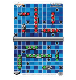 "BIRCHWOOD CASEY BWC Pre Game Battle At Sea Target - 8 Count 12"" x 18"""