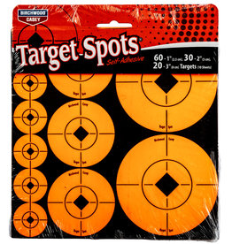 "BIRCHWOOD CASEY BWC Target Spots Assortment 60-1"" 30-2"" 20-3"" Targets"
