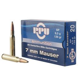 TR & Z USA PPU 7mm Mauser (7x57) 138 gr SP - 20 Count