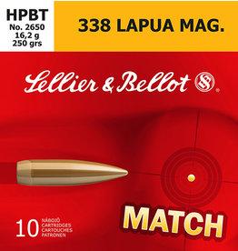 SELLIER & BELLOT Sellier & Bellot .338 Lapua HPBT, 250 Gr - 10 Round