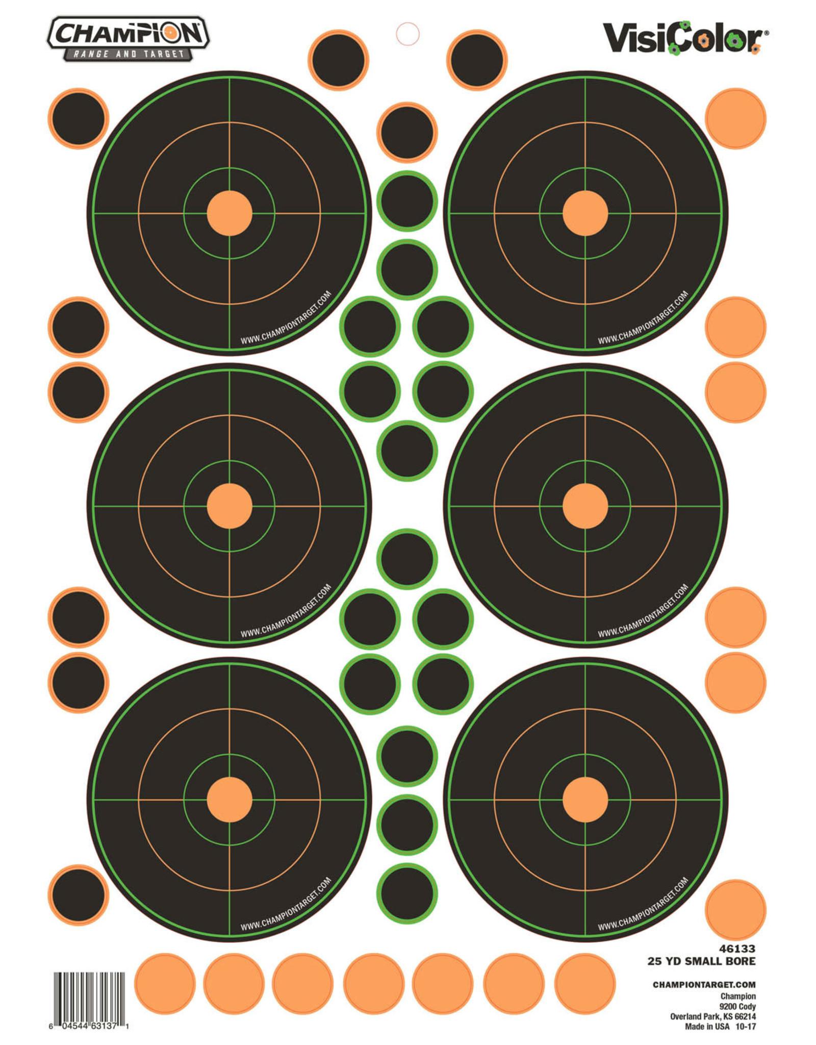 "CHAMPION TARGETS Champion VisiColor Self-Adhesive Paper 8.5"" x 11.5"" Circle Orange/Black 5 Pack"