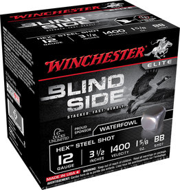 "WINCHESTER AMMO Winchester Blind Side 12 ga 3-1/2"" 1-5/8 Oz #BB 1400 FPS - 25 Count"