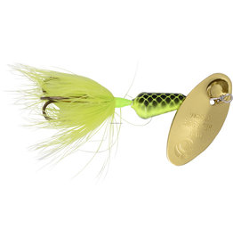 Wordens Rooster Tail Vibric Dressed 1/8 Oz - Chartreuse