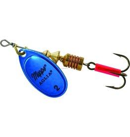 Mepps Mepps B2 BLP Aglia In-Line Spinner 1/6 oz, Plain Treble Hook, Blue &