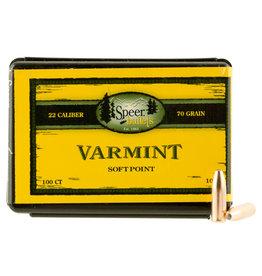 "SPEER BULLETS Speer Varmint (.224"") Semi-Spitzer SP 70 Gr - 100 Count"