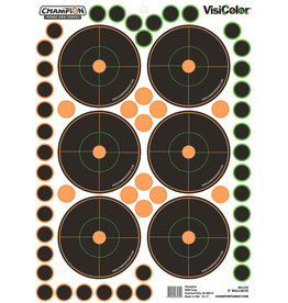 CHAMPION TARGETS CHAMP 46135 3IN BULLS EYE 5PK W/150 PASTERS