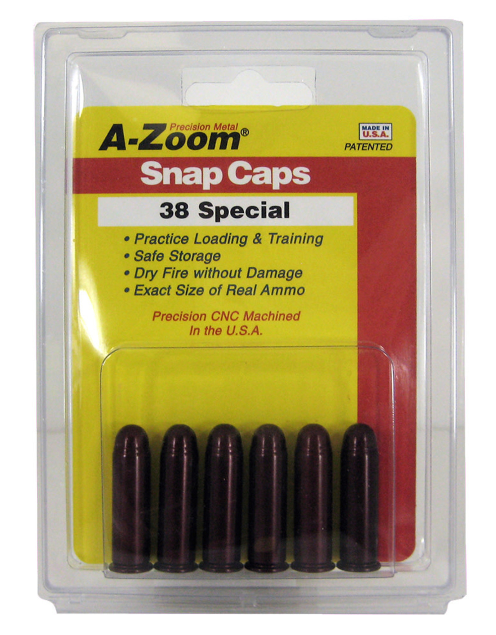 A-Zoom Azoom Snap Caps - .38 Special - 6 Pack