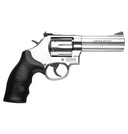 """SMITH & WESSON Smith & Wesson M686-6 .357 Mag 4."""" SS Rubber Grip"""