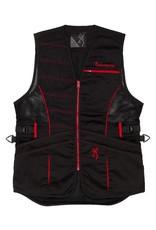 Browning Ace Shooting Vest For Her - Blk/Red - MED