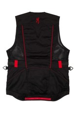 Browning Ace Shooting Vest For Her - Blk/Red - SM