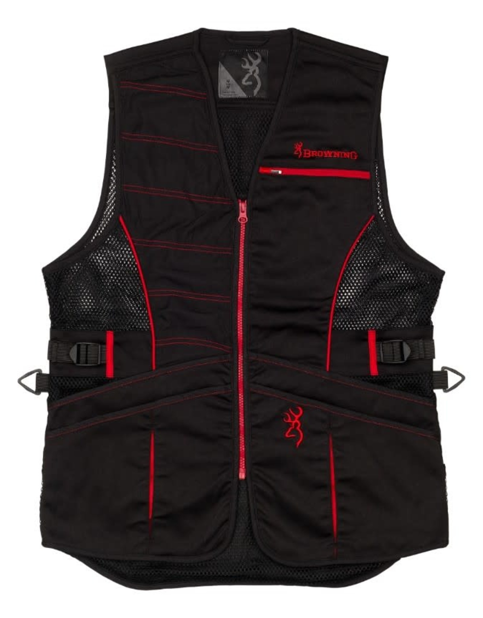 Browning Ace Shooting Vest For Her - Blk/Red - XL