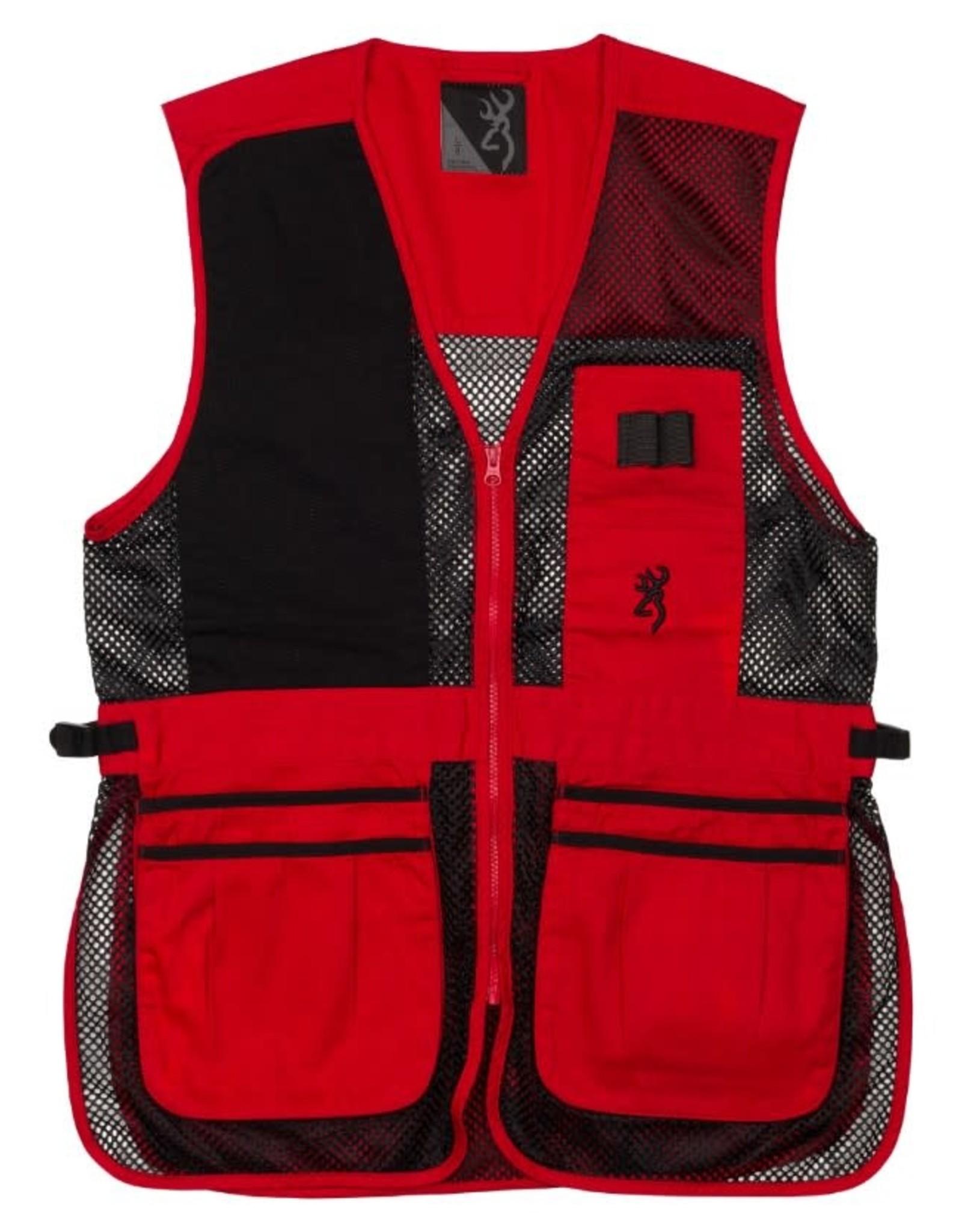 Browning Trapper Creek Vest - Blk/Red - LG