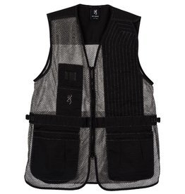 Browning Browning Trapper Creek Vest LEFT Hand - Blk & Gry - LG