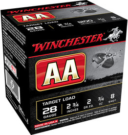 """WINCHESTER AMMO Winchester AA 28 ga 2-3/4"""" 3/4 Oz #8 1200 FPS - 25 Count"""