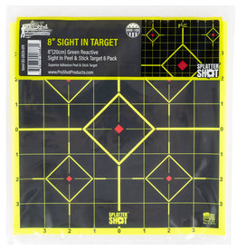 "Pro-Shot 8SI-GREEN-6PK Splatter Sight-In Diamond Self-Adhesive Adhesive Paper Target 8"" 6 Per Pack"