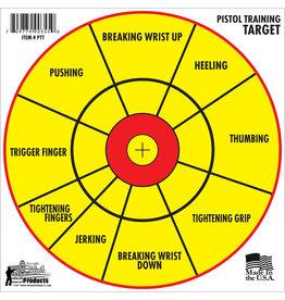"""PRO-SHOT Pro-Shot PTT6PK SplatterShot Pistol Training Bullseye Hanging Paper Target 12"""" 6 Per Pack"""