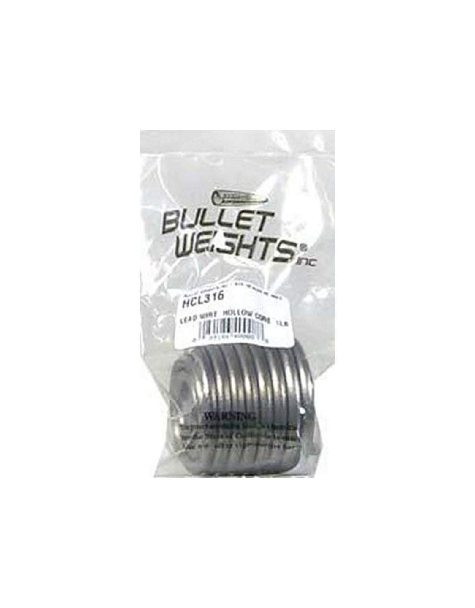 """Bullet Weights Bullet Weights Lead Wire 3/16"""" Dia. Hollow Core 1Lb Pencil"""