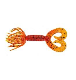 """Yamamoto Yamamoto 93-10-196 Double Tail Hula Grub, 4"""", 10pk, Pumpkin (Orange)"""