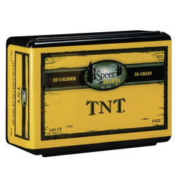 "SPEER BULLETS Speer TNT .22 Cal  (.224"") 55 Gr - 100 Count"