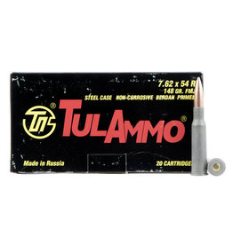 GRASSO HOLDINGS Tula Ammo 7.62X54 Russian 148GR FMJ - 20 Count