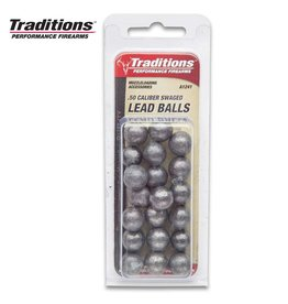 """Traditions .50 Cal (.490"""") Lead Round Ball -  20 Count"""