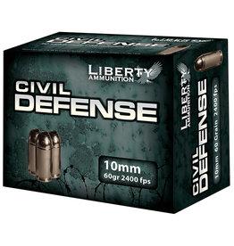 Liberty Ammunition Liberty Civil Defense 10mm 60 Gr HP 2400 FPS - 20 Count