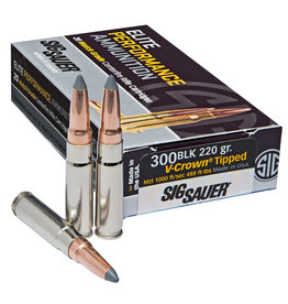 Sig Sauer Sig Sauer .300 Blackout 205 Gr Subsonic Varmint Tip - 20 Count