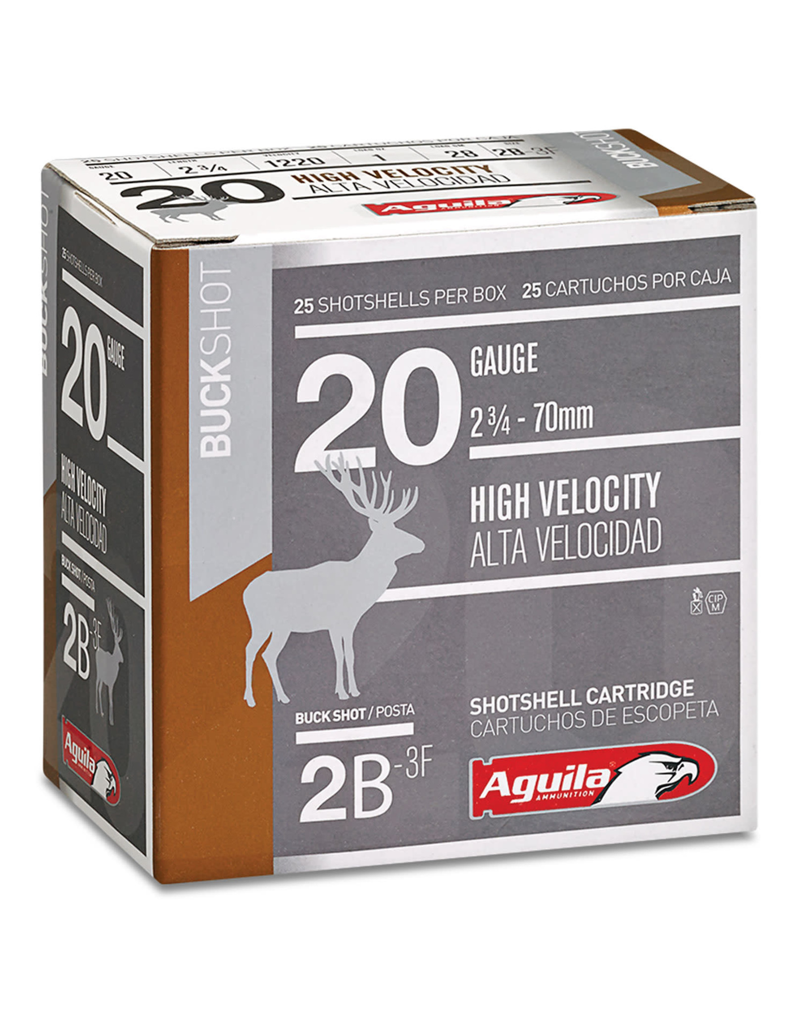 """Aguila Aguila 20 ga 2-3/4"""" 1 Oz 1220 FPS - 00 Buck"""