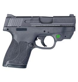 "SMITH & WESSON Smith & Wesson M&P Shield  M2.0 9mm 3.1"" bbl  8+1 Round w/ Crimson Trace Green"