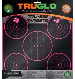 truglo TruGlo Target 5-Bull Pink 12x12 6Pk - Pink