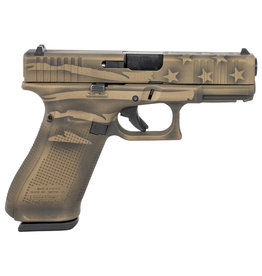 """Glock 45 Gen 5 9mm 4.02"""" bbl 17+1 Round Battle Worn Flag Cerakote"""