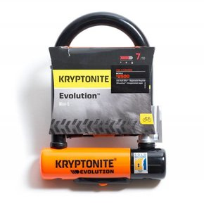 LOCKS U-LOCK KRYPTONITE EVOLUTION MINI-5 3.25x5.5 wBRT (H)