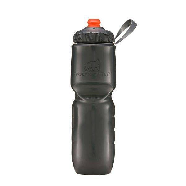 WATER BOTTLE Polar Insulated with ZipStream Cap: 24oz, Charcoal