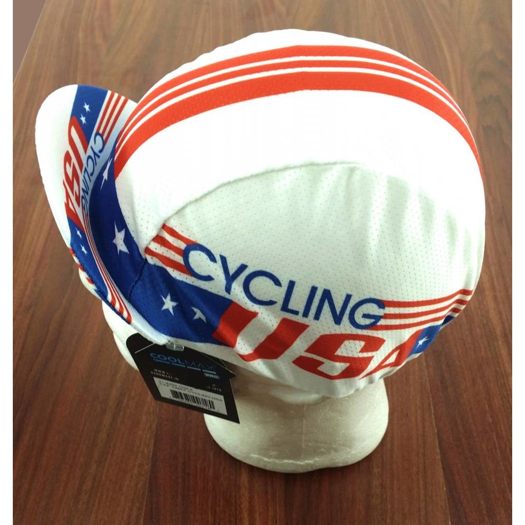 CYCLING CAP PACE USA Coolmax Red/White/Blue- One Size