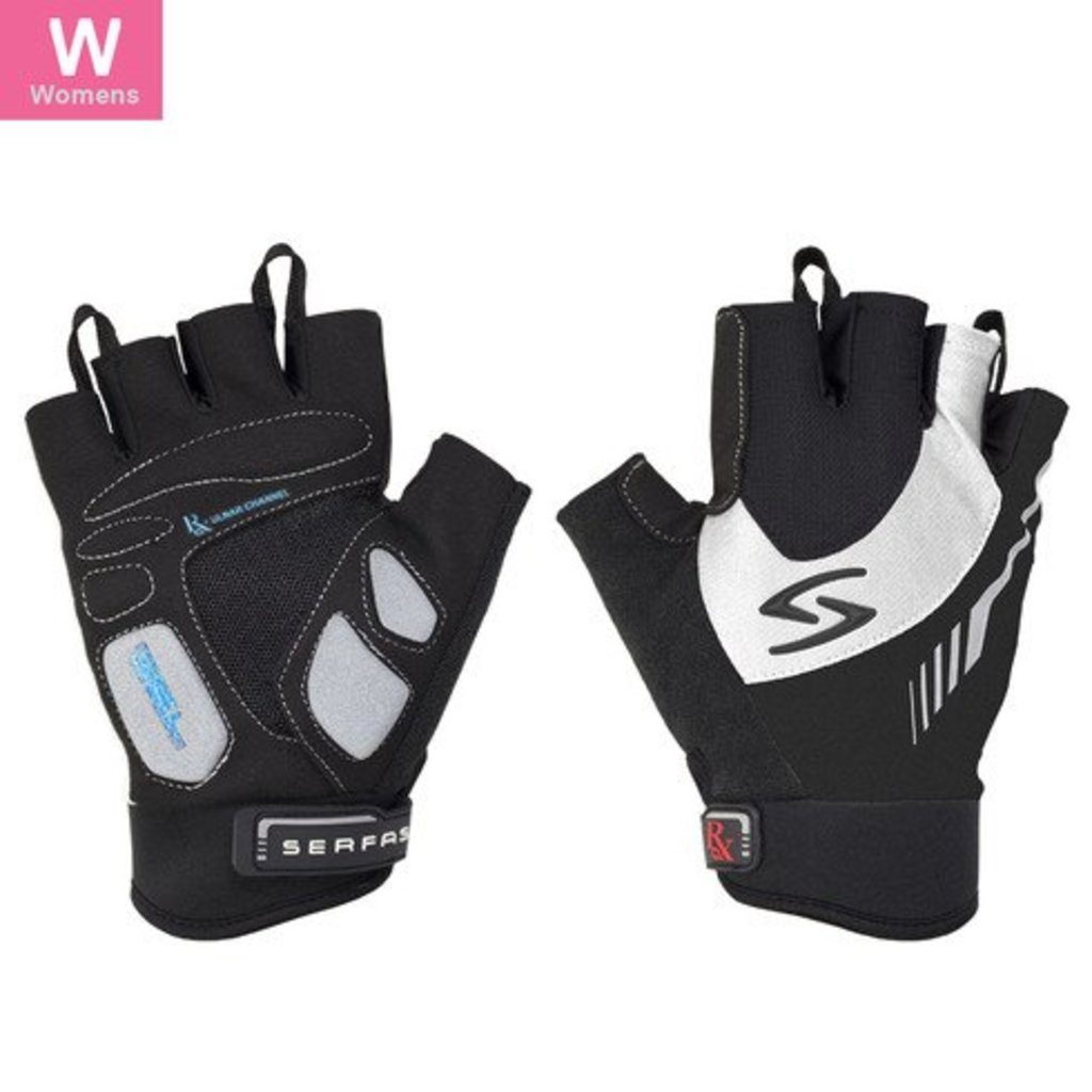 GLOVES SHORT FINGER SERFAS WOMEN'S RX WHITE X-SMALL
