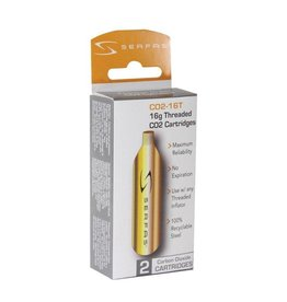 Serfas 16G CO2 CYLINDERS THREADED (2 PACK)