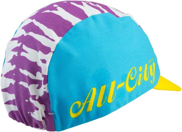 All-City CYCLING CAP All-City Wangaaa! Blue/Purple/Yellow One Size