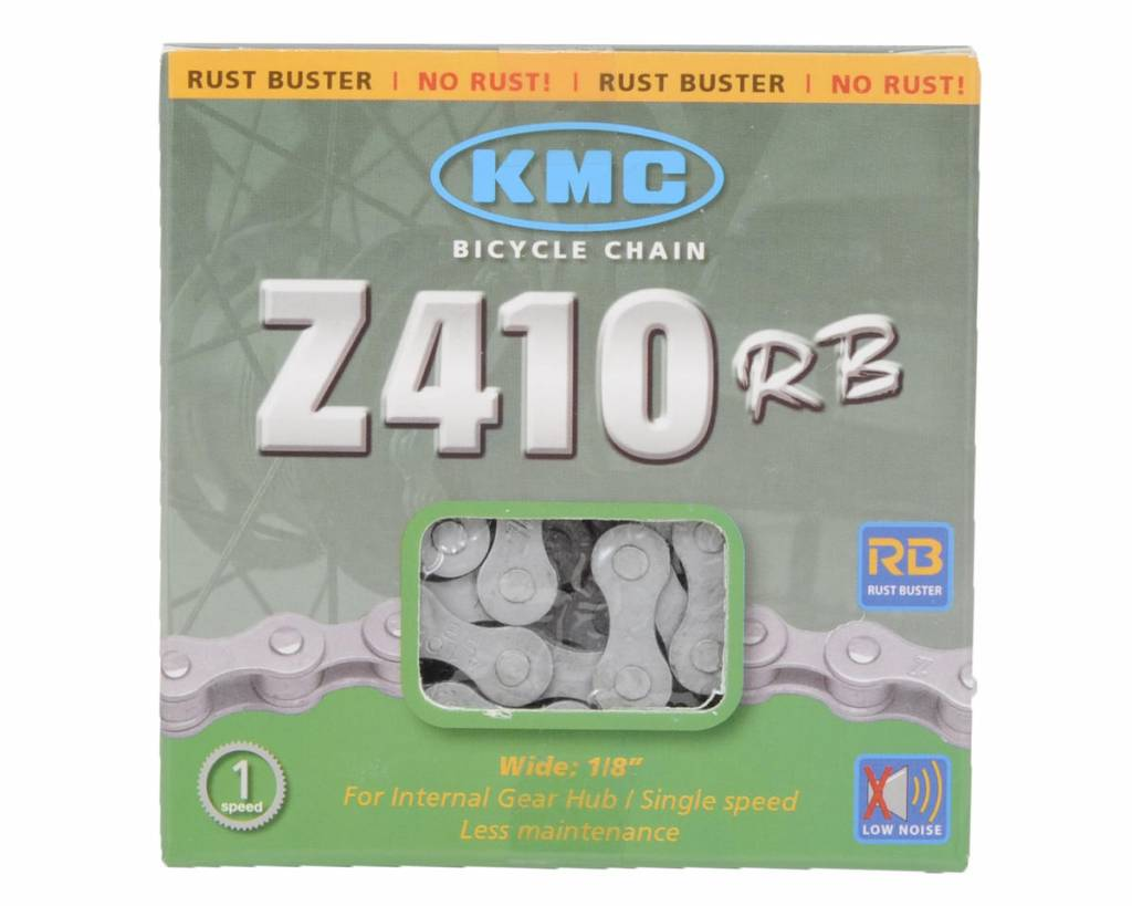 "CHAIN 1 SPEED KMC 410RB Rustbuster 1/8"" 112 Links Silver"