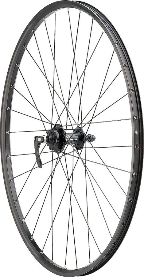"Quality Wheels WHEELS 29"" Quality Wheels Disc FRONT SRAM 406 6-bolt / Sun SR25 Black"