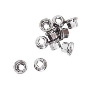 AXLE NUT XLC Track 9.0X1mm Chrome Single